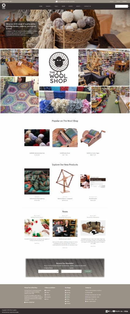 The Wool Shop Website